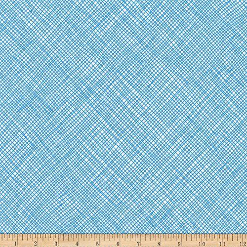 d3af44de441 Kaufman Blake Cotton Jersey Knit Grid Stratosphere Fabric... https://www