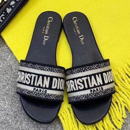fd942af0a3ff Dior Canvas Slide Sandal 2019 Dior Sandals