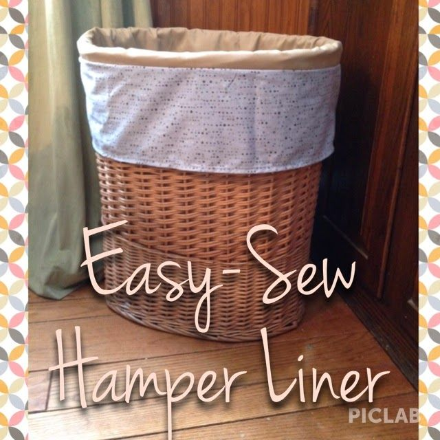Easy Sew Hamper Liner Easy Sewing Wicker Laundry Hamper Hamper