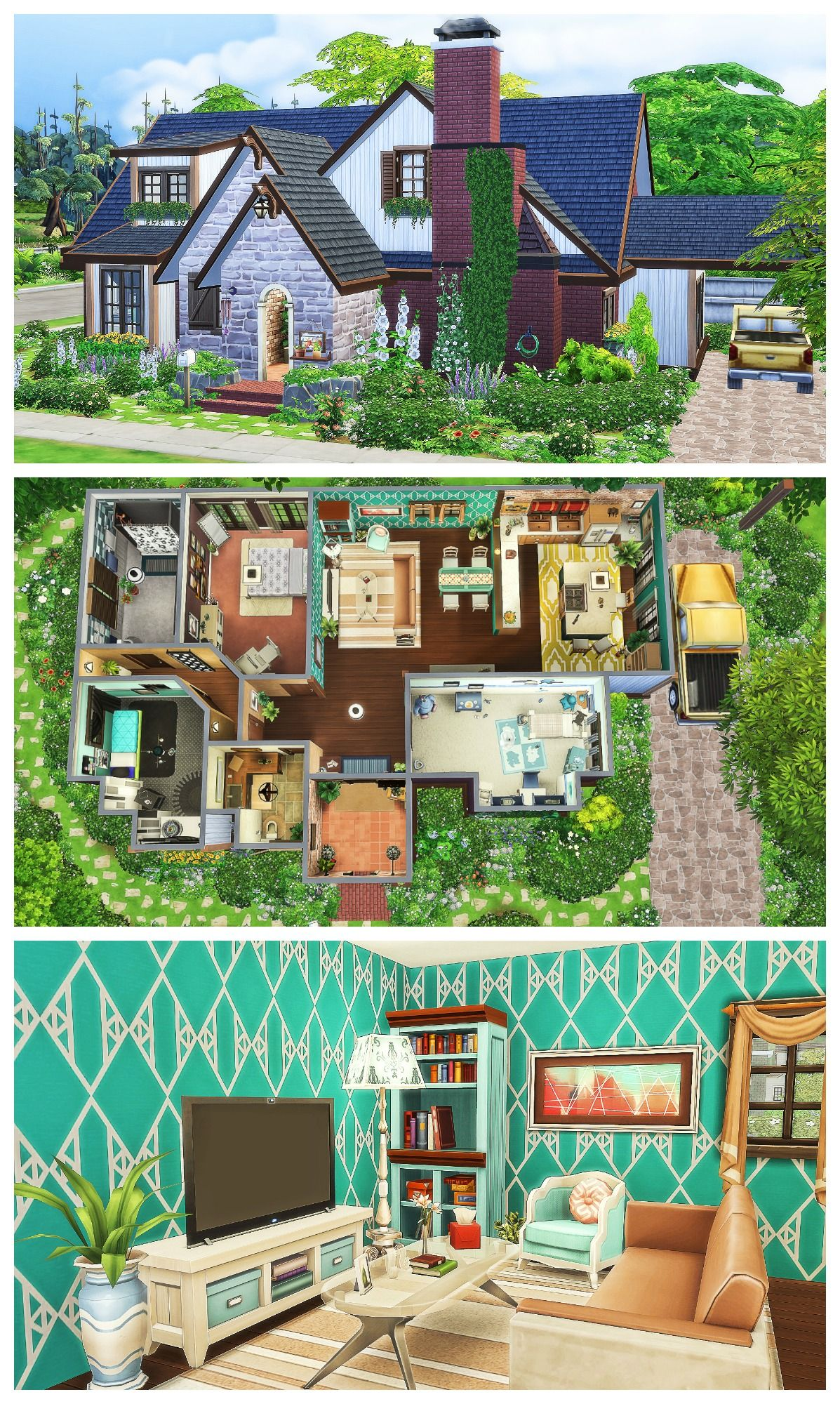 Family Home Sims 4 Speed Build Sims House Sims Building Sims 4 Houses