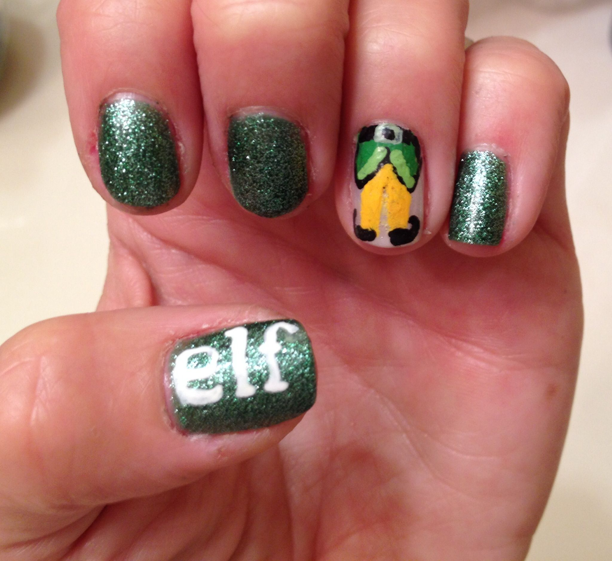 Christmas Nails Elf: Christmas Buddy The Elf Nails