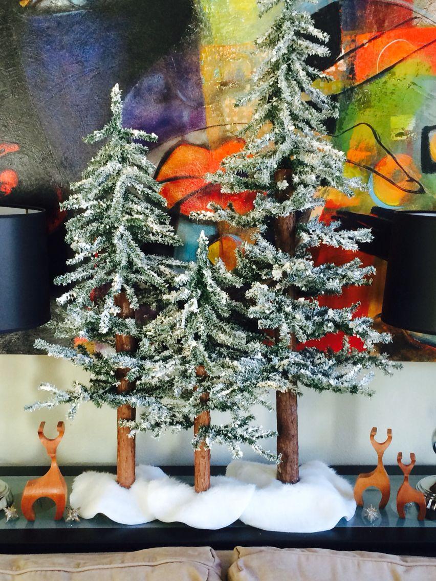 Diy Tree Flocking Using Ivory Soap Liquid Starch And Hot Water Diy Tree Ivory Soap Holiday Decor