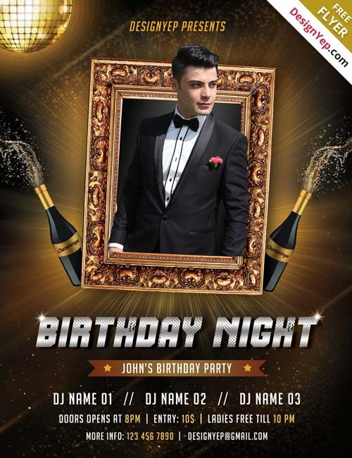 pin by sadk on sadk pinterest psd flyer templates free birthday and flyer template