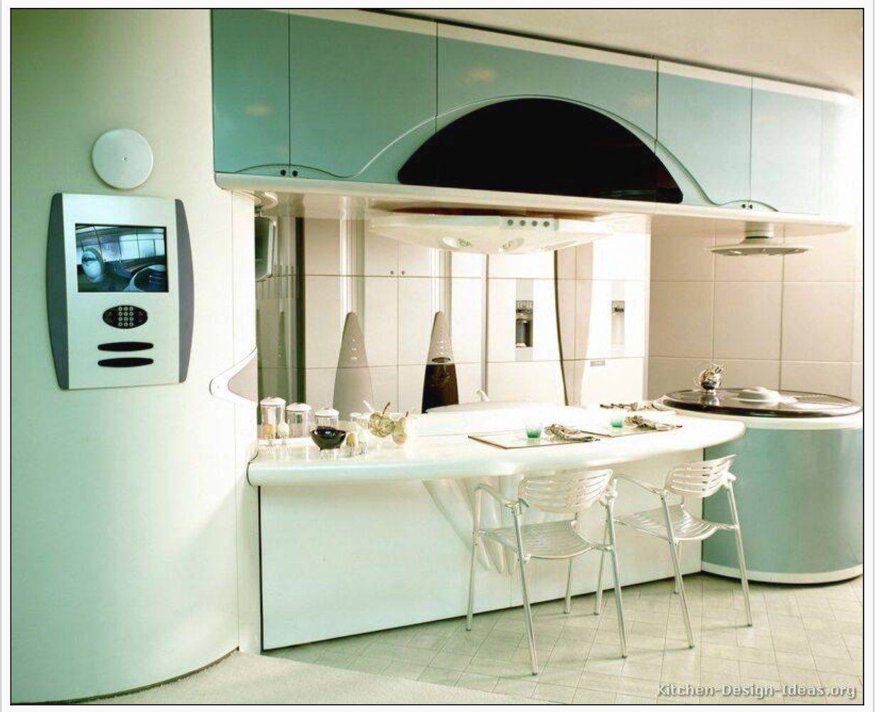 Trend Alert Retro Kitchen Designs With A Modern Twist Interiordesign Trends Via Kitch Modern Retro Kitchen Retro Kitchen Appliances Kitchen Design Pictures