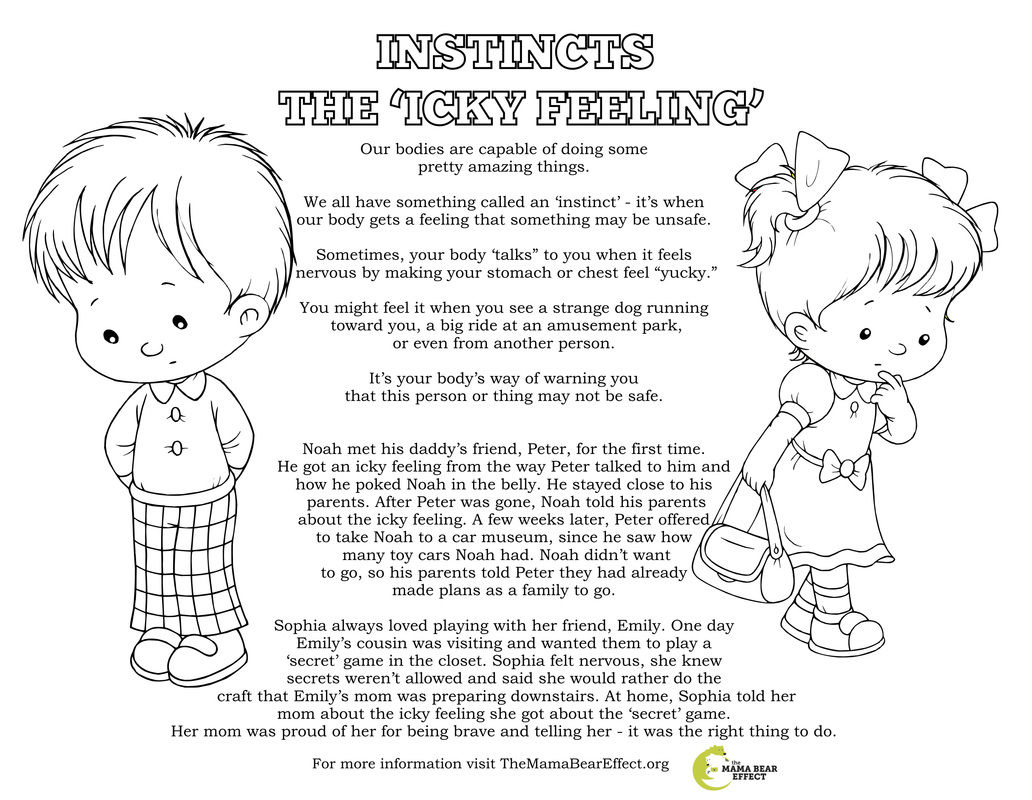 Body Safety Coloring Page