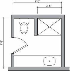Full Bath Designs For 7x5 Feet Google Search Small Bathroom Floor Plans Small Bathroom Layout Bathroom Plans