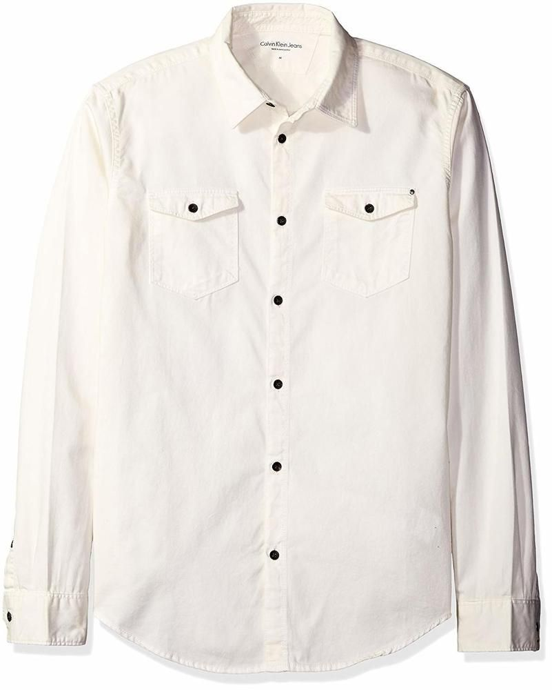 eddc387f559 Calvin Klein Jeans Men s Long Sleeve Basic Denim Shirt - Choose SZ Color   fashion  clothing  shoes  accessories  mensclothing  shirts (ebay link)