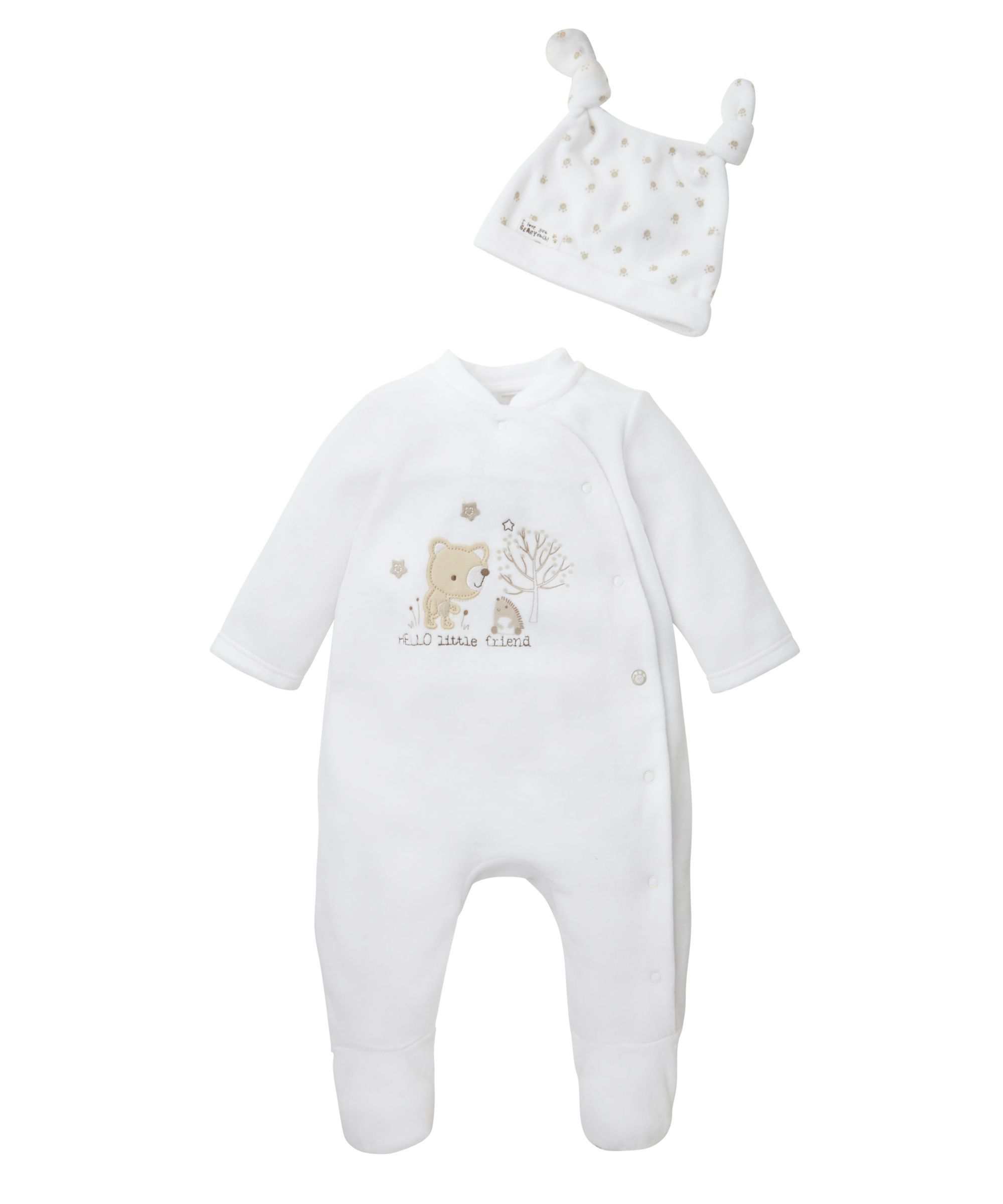 05edd823 Hello Little Friend All In One and Hat Set Mothercare Baby Clothes, Unisex Baby  Clothes