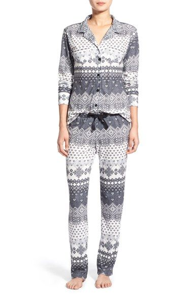 Love+Grace 'Cassie' Fair Isle Print Pajamas available at ...