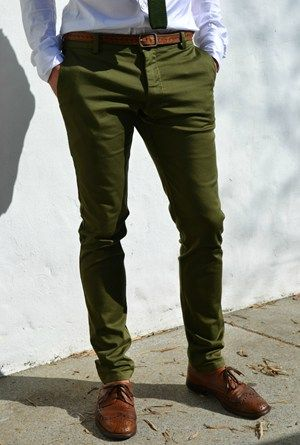 Olive Cappa Chinos
