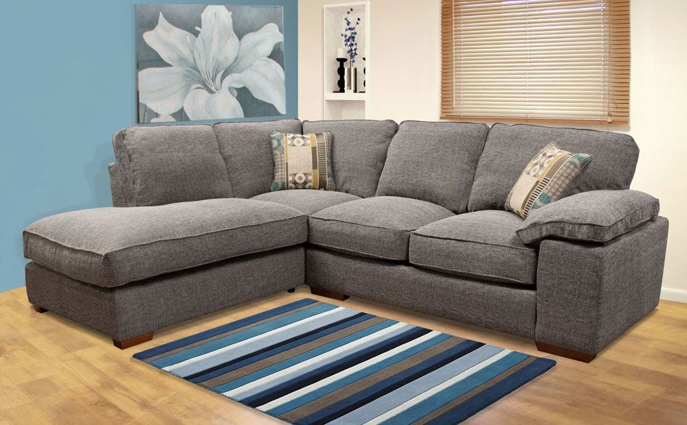 Buoyant Langden Grey Lhf Fabric Corner Sofa Bed Corner Sofa Bed Uk Small Grey Corner Sofa Grey Fabric Corner Sofa