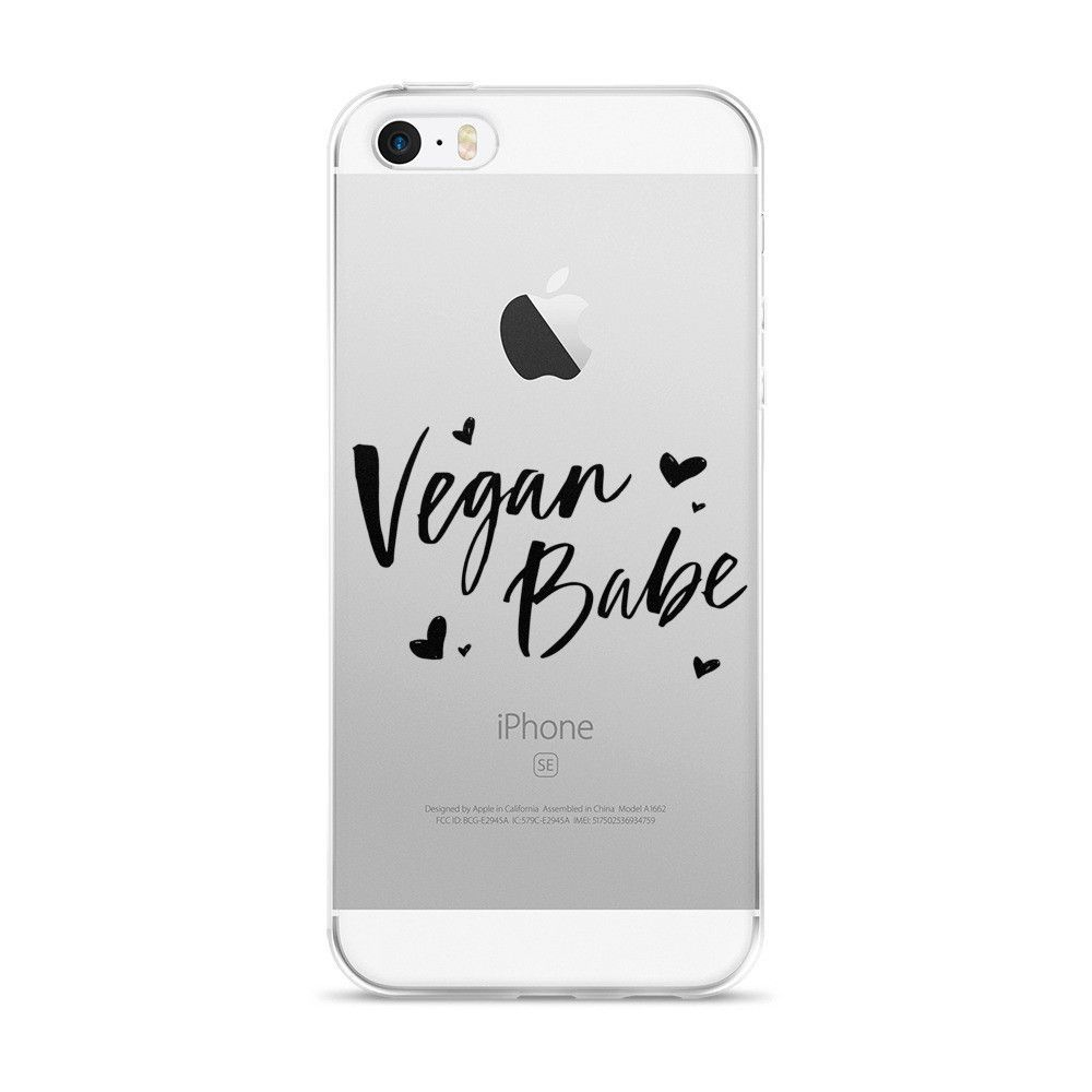 Vegan iPhone case in Black Hearts