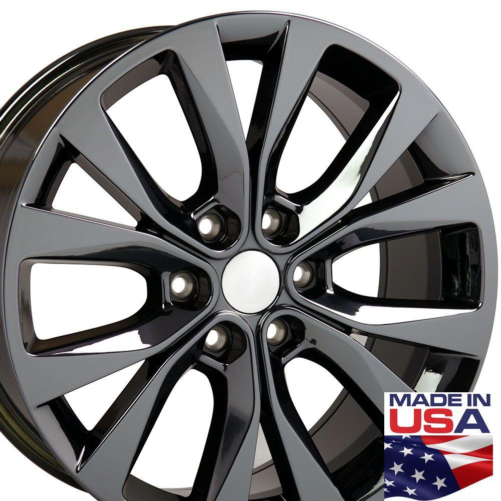 20 Inch Rims Fit Ford F150 Fr75 20x8 5 Black Chrome Wheel Set