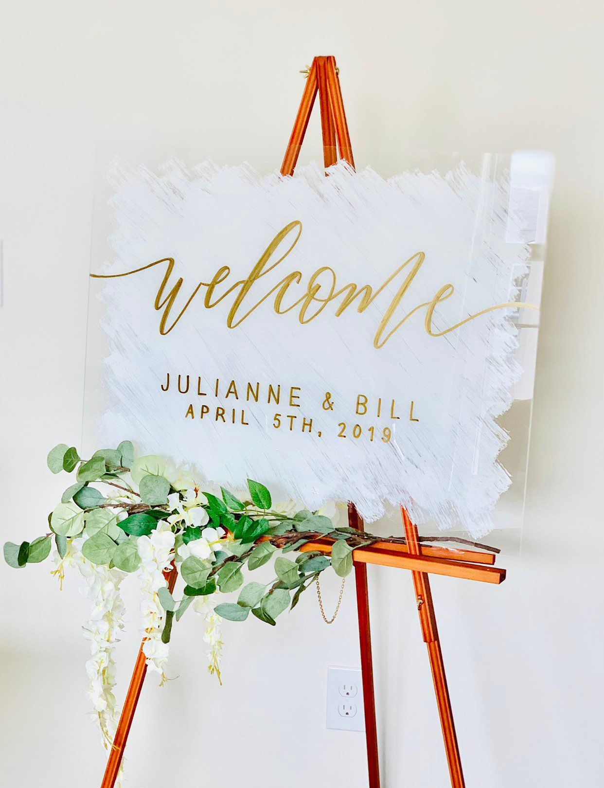 Welcome Sign Wedding Acrylic Welcome To Our Wedding Clear Etsy Wedding Ceremony Signs Welcome To Our Wedding Wedding Signs
