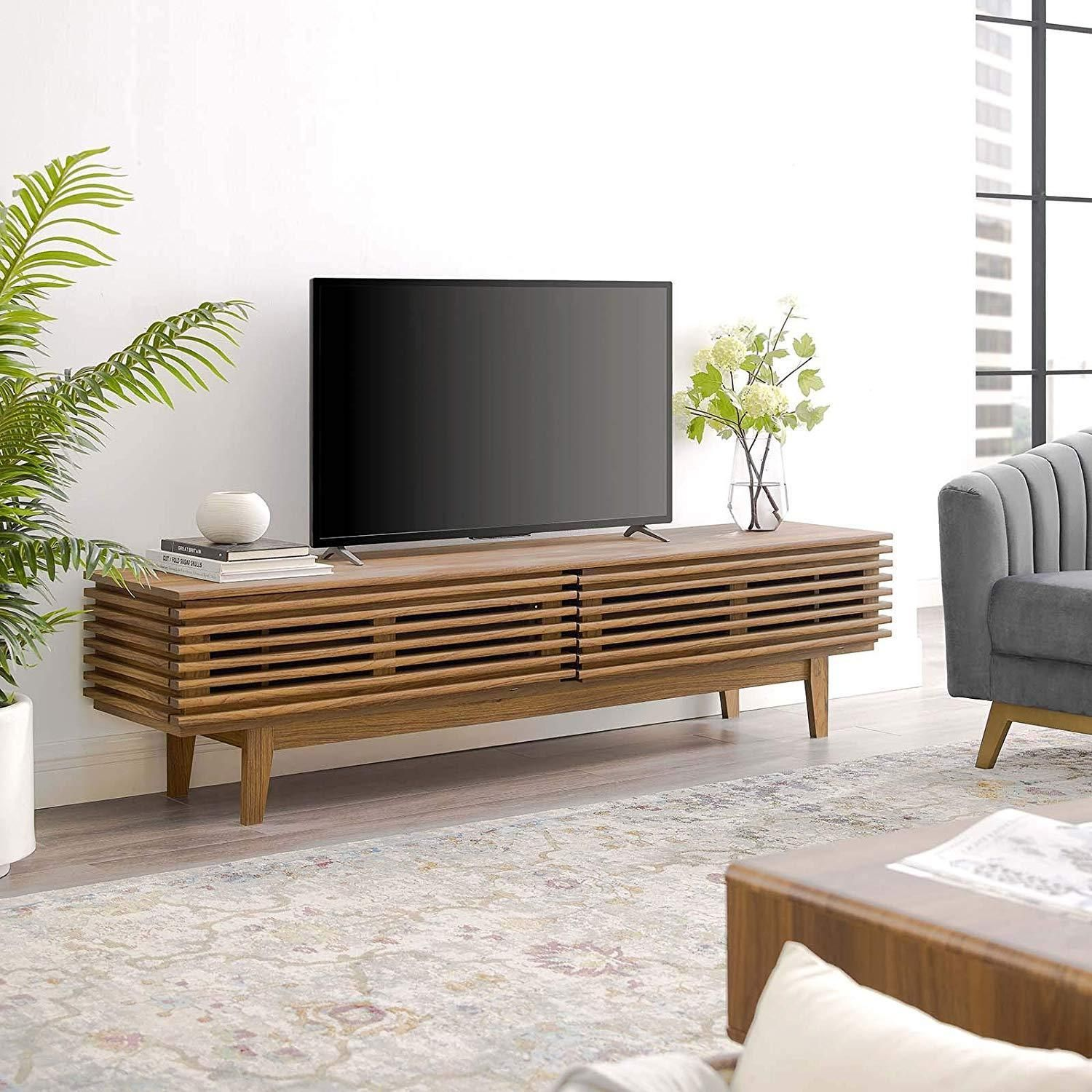 Rennington 71 Tv Stand Modern Living Room Table Low Profile Tv Stand Contemporary Modern Furniture