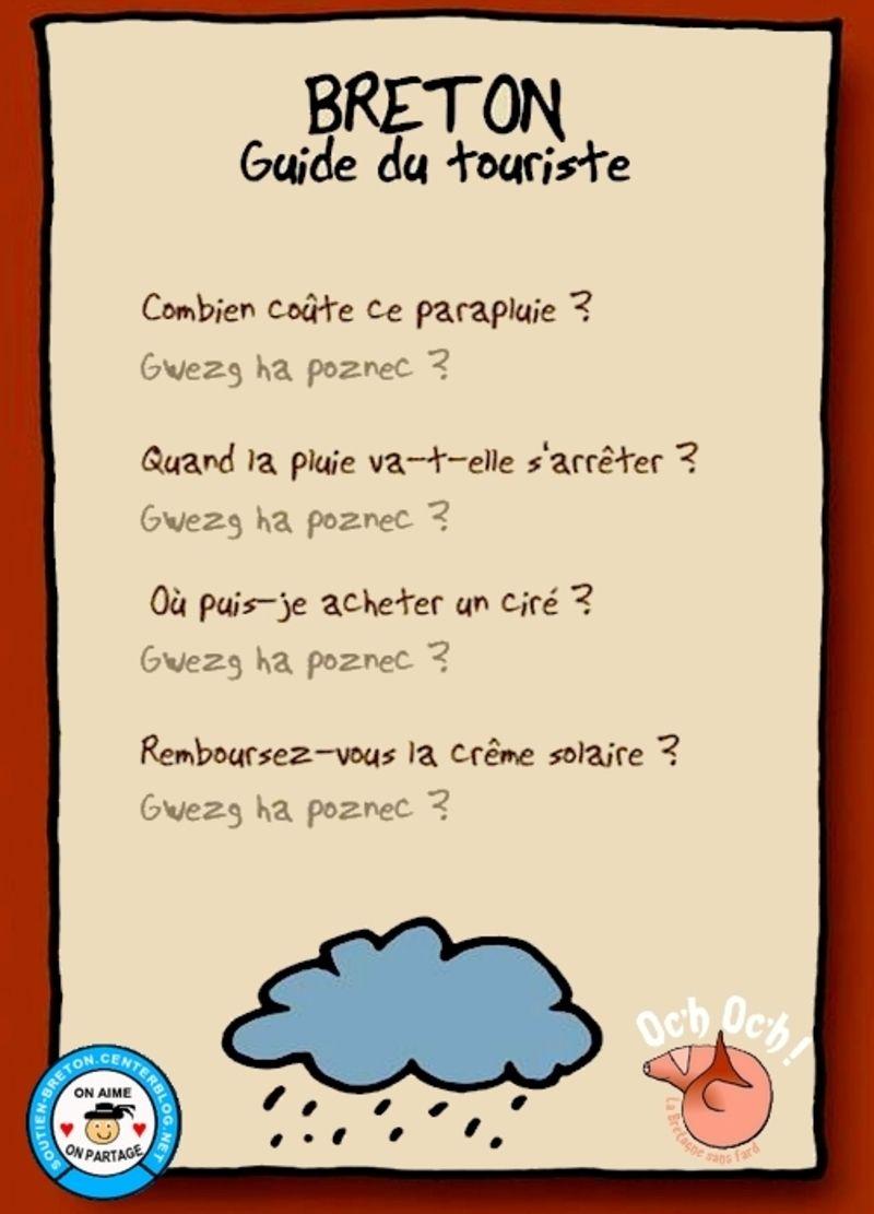 Humour Breton - Initiation au Breton pour les vacances - | Humour bretagne, Humour breton, Humour
