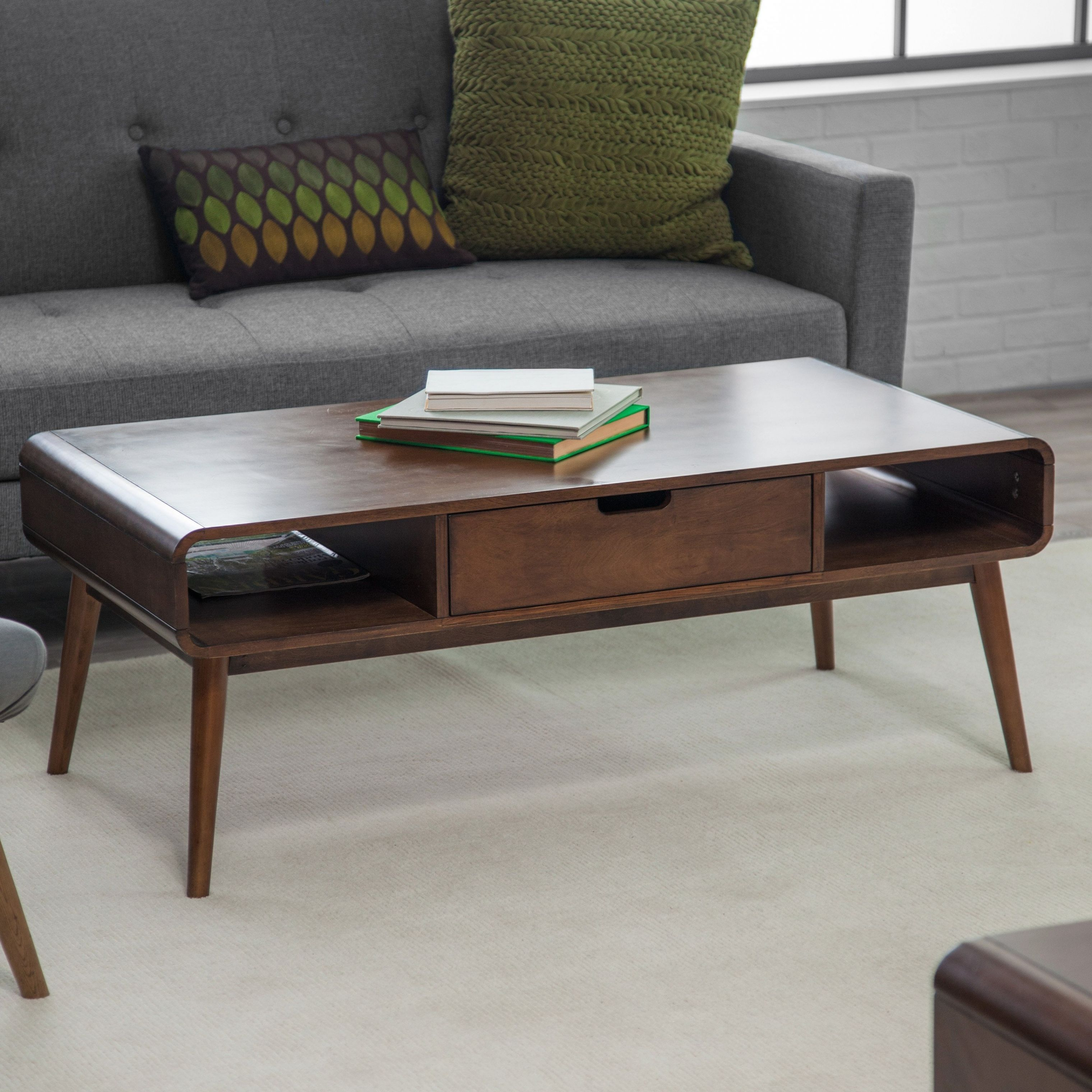 Image result for midcentury modern coffee table with storage