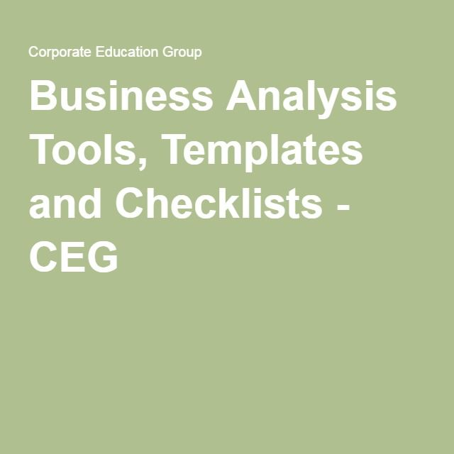 Business analysis tools templates and checklists ceg my work business analysis tools templates and checklists ceg flashek Images