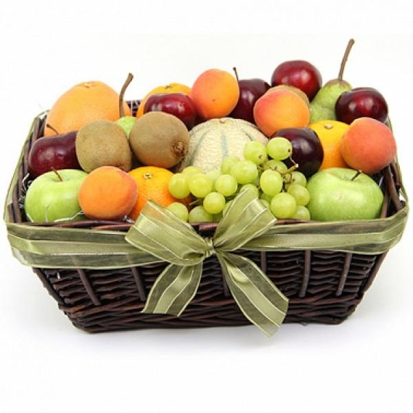 Late Summers Fruit Basket Is A Festive Presentation Of