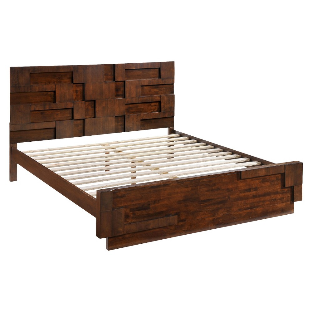 Zuo San Diego Bed - Walnut (King), Brown