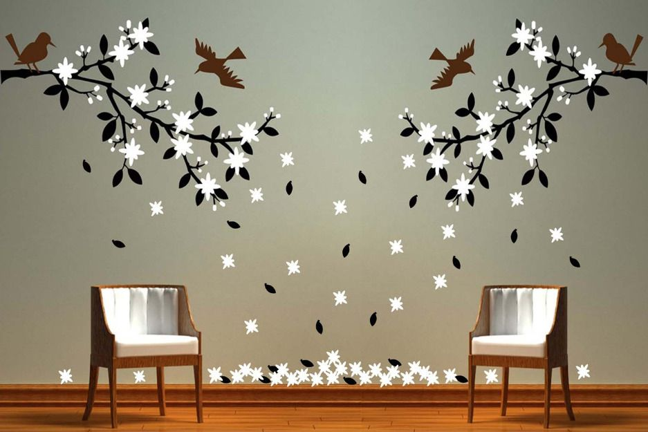 i pinned this for an idea for the shed wall paintings designs - Interior Wall Painting Designs