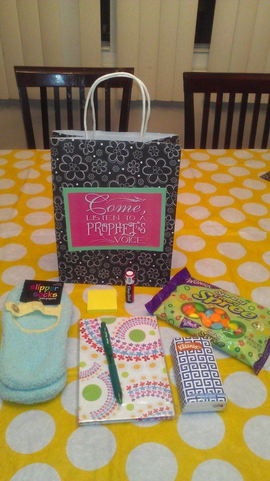 Conference kit I made for the ladies I visit teach. Womens Retreat Gifts 71d969ec3