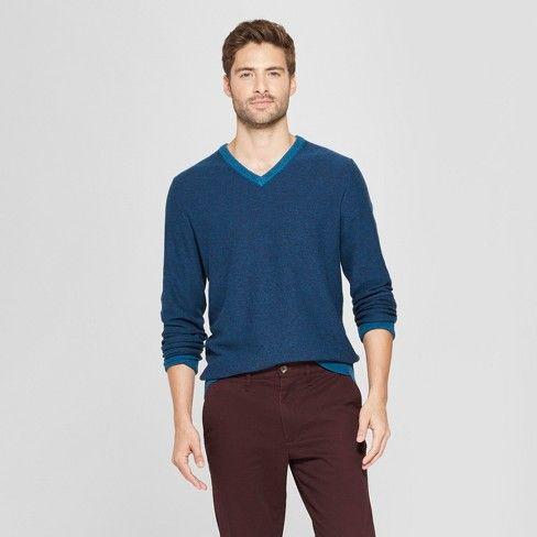 126d3f354f290 Men s Standard Fit Crew Neck Sweater - Goodfellow   Co™ Blue   Target