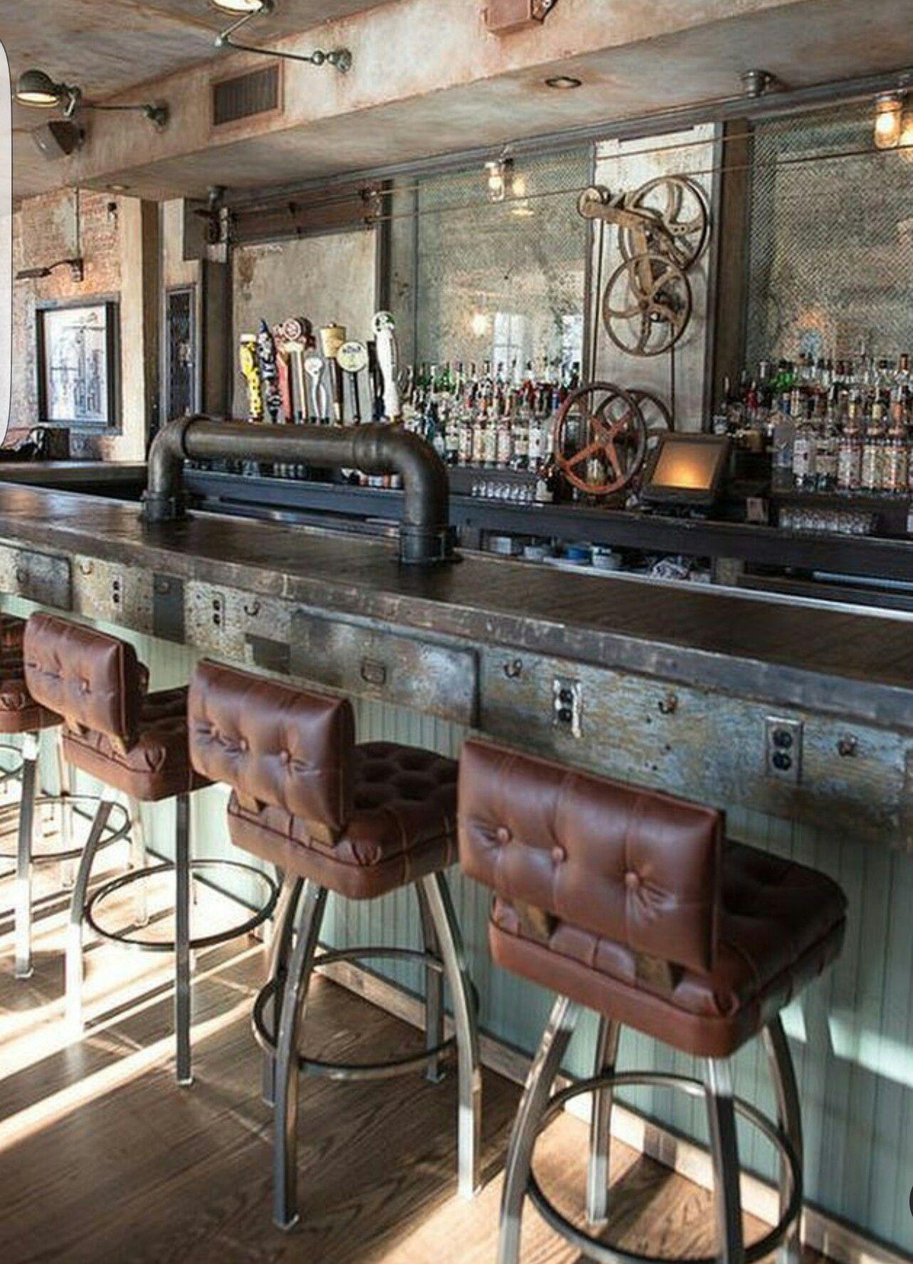 Bar. Inspiration. Vintage  Home bar design, Bar decor, Bar design