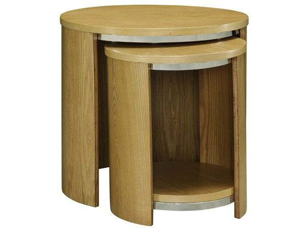 Jual Furnishings Jf306 Oak 2 Table Nest Of Tables Sleek Contemporary And Delightfully Curvy The From Is
