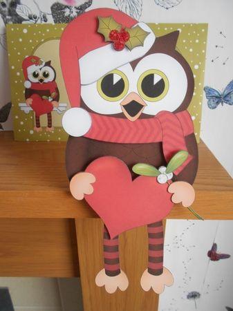 3D On the Shelf Card Kit - Christmas Little Hoot Owl has a Heart - Photo by…