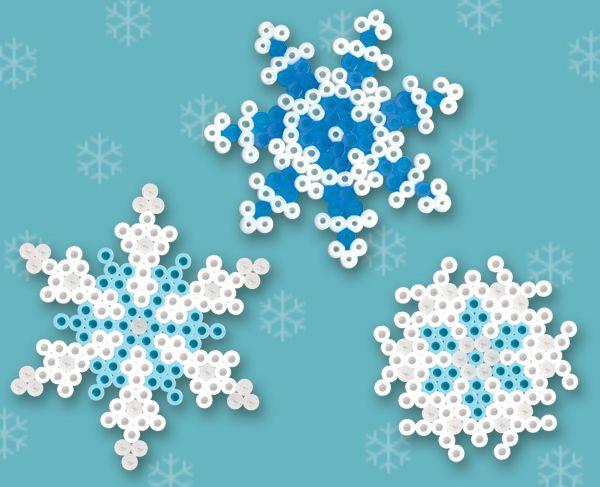strijkkralen sneeuwvlokken (zeshoekige of stervormige onderplaat)