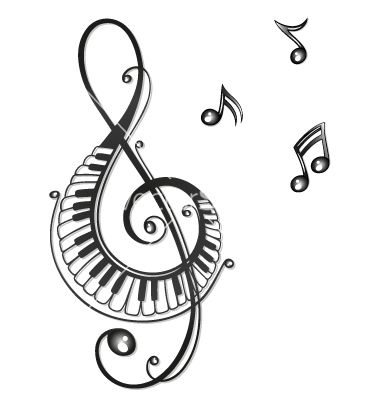 Clef music music notes vector art download music vectors for Note musicali dwg