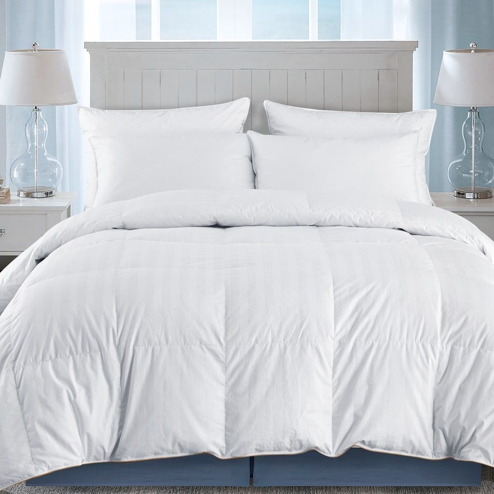 Ultra Premium Year Round Goose Down Comforter Duvet W 500 Tc Cotton Cover In 2020 Down Comforter Duvet Comforters Comforters