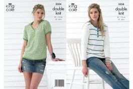 King Cole 3324 Ladies Tops in Bamboo Cotton DK (leaflet) - Wool Warehouse - Buy…