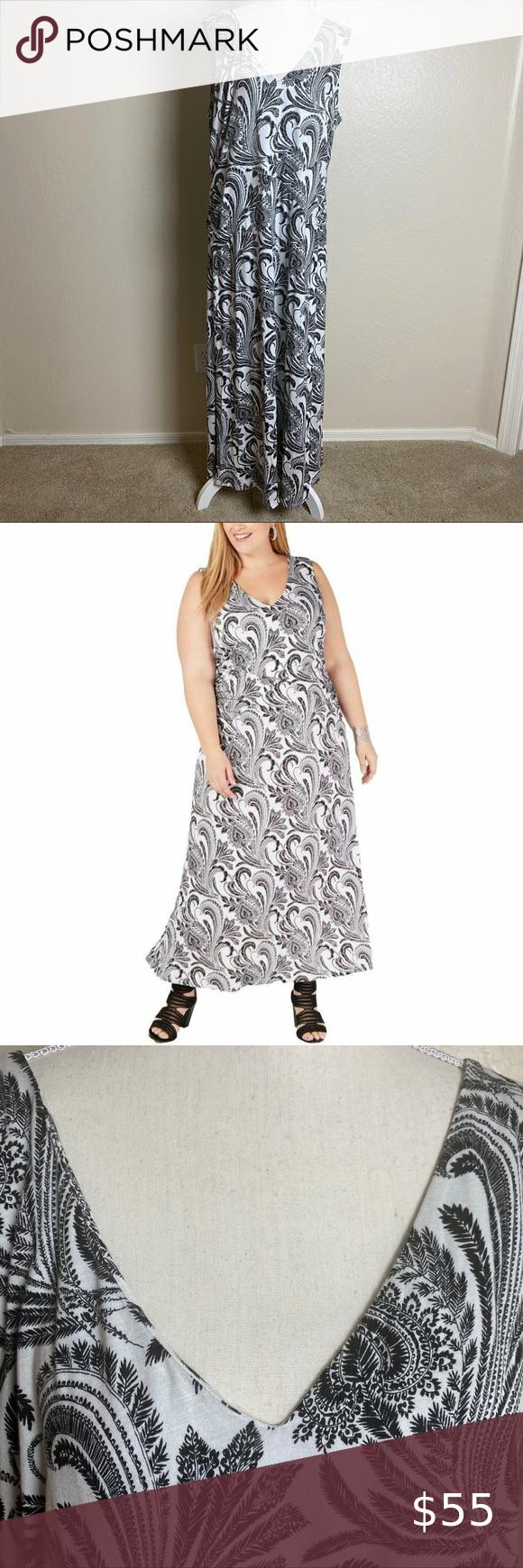 Inc Nwt White Black Paisley Maxi Dress 2x Paisley Maxi Dress Snake Print Maxi Dress Form Fitting Maxi Dress [ 1740 x 580 Pixel ]