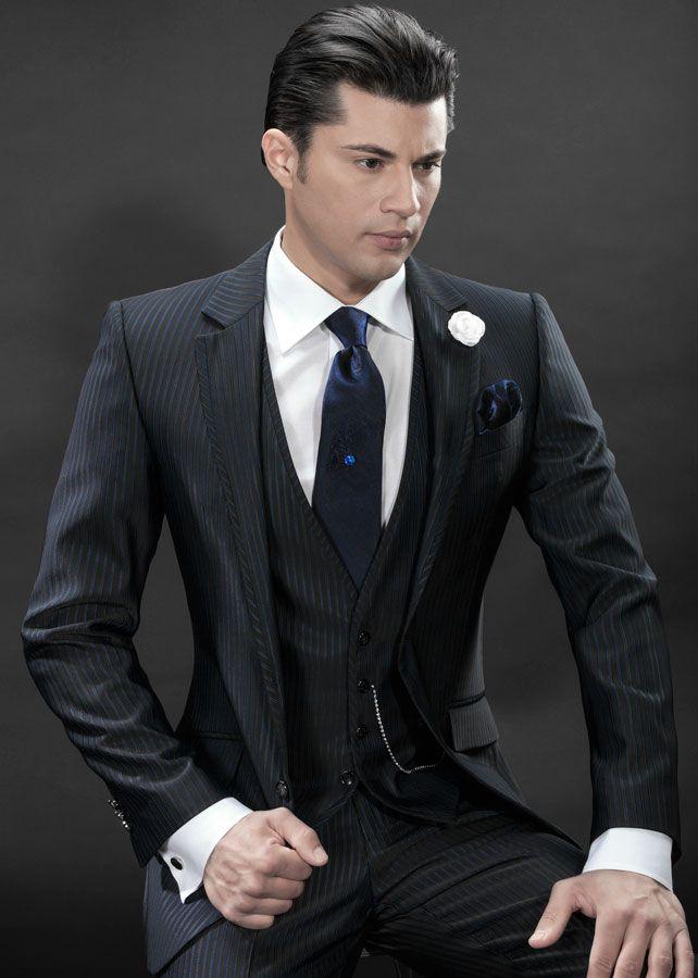 Three-Piece Suit Wedding   Italian Fashion Wedding Suits, model ...