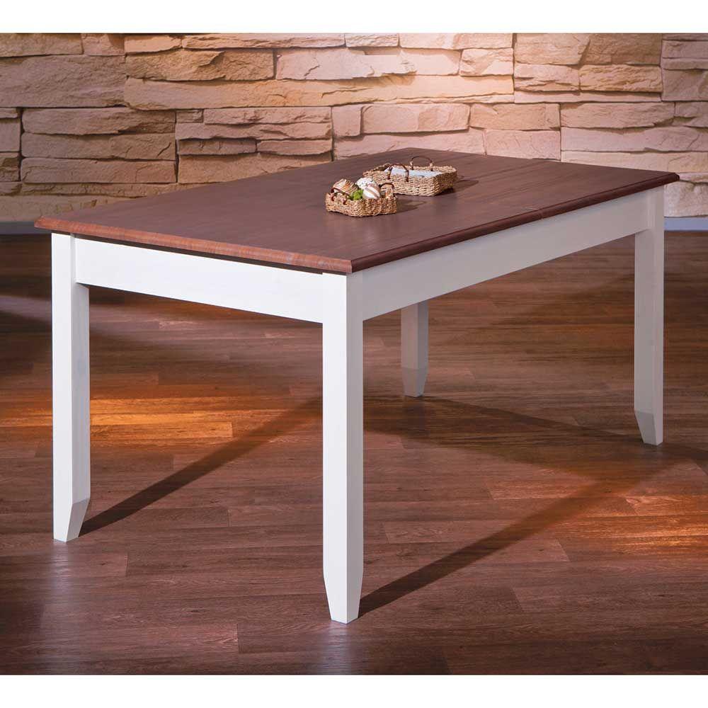 Brilliant Esstisch Massivholz Weiß Das Beste Von Ausziehtisch In Weiß Braun Holztisch,massivholztisch,küchentisch, Esszimmertisch,holztisch Massiv,
