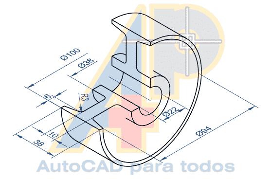 Autocad Para Todos 100 Práctico Proyecto 2 Rondana Pivotante Rueda En 3d Proyectos Autocad Fondos De Galaxia