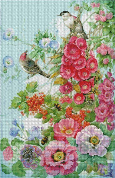 Bird Song [FEDOROVA1942] - $19.00 : Heaven And Earth Designs, cross stitch, cross stitch patterns, counted cross stitch, christmas stockings, counted cross stitch chart, counted cross stitch designs, cross stitching, patterns, cross stitch art, cross stitch books, how to cross stitch, cross stitch needlework, cross stitch websites, cross stitch crafts
