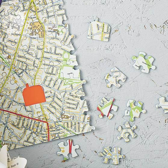 Personalised our house map jigsaw test how well you know your personalised our house map jigsaw test how well you know your surroundings with this personalised map jigsaw with motorways footpaths and a bright gumiabroncs Gallery