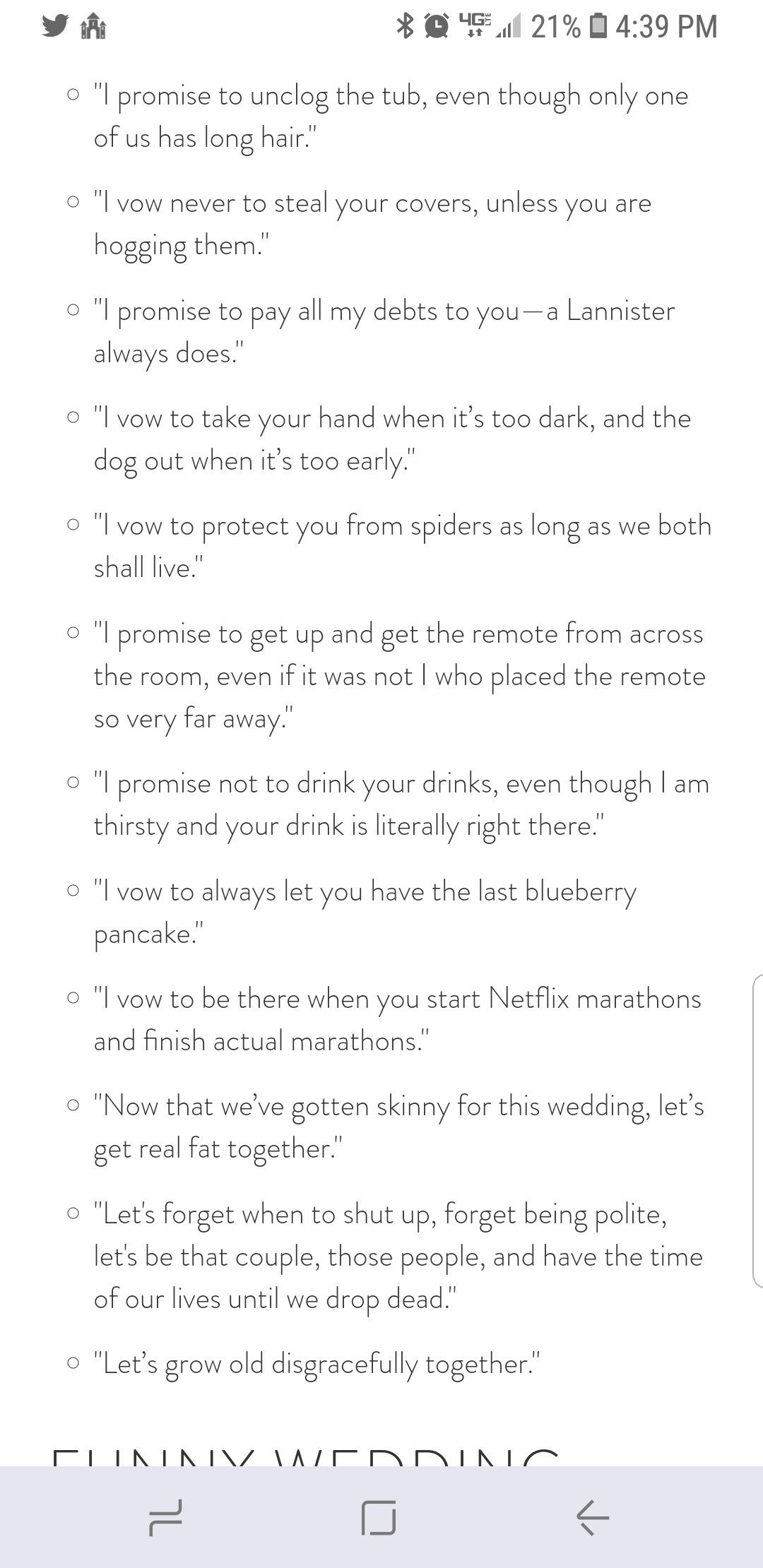 Vows funny Wedding vows to husband, Funny wedding vows