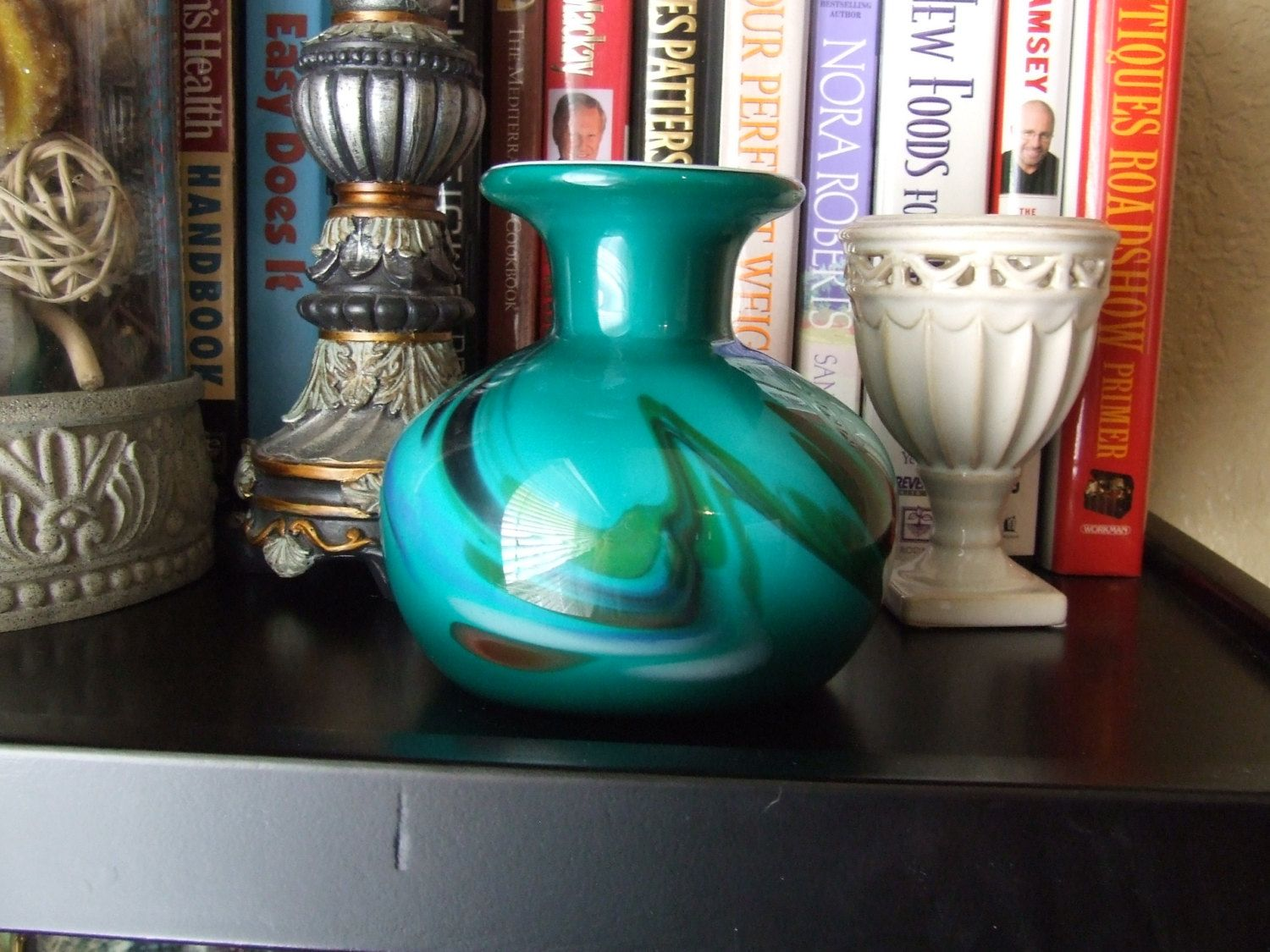 Vintage hand blown glass cased green blue vase cased glass vase vintage hand blown glass cased green blue vase cased glass vase with white lining reviewsmspy