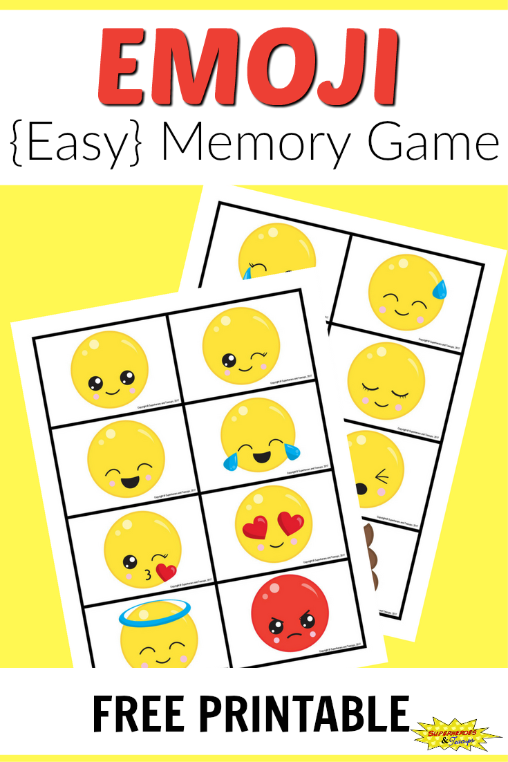 photo regarding Emoji Feelings Printable identified as Cost-free Printable Emoji Memory Activity for Young children The moment higher education