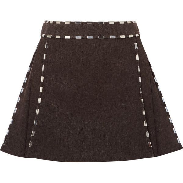 Pictures Cheap Online Pleated Glossed-leather Mini Skirt - Brown Chloé Cheap With Credit Card Sale Pre Order Cheap Sale Really pus86F2FwJ