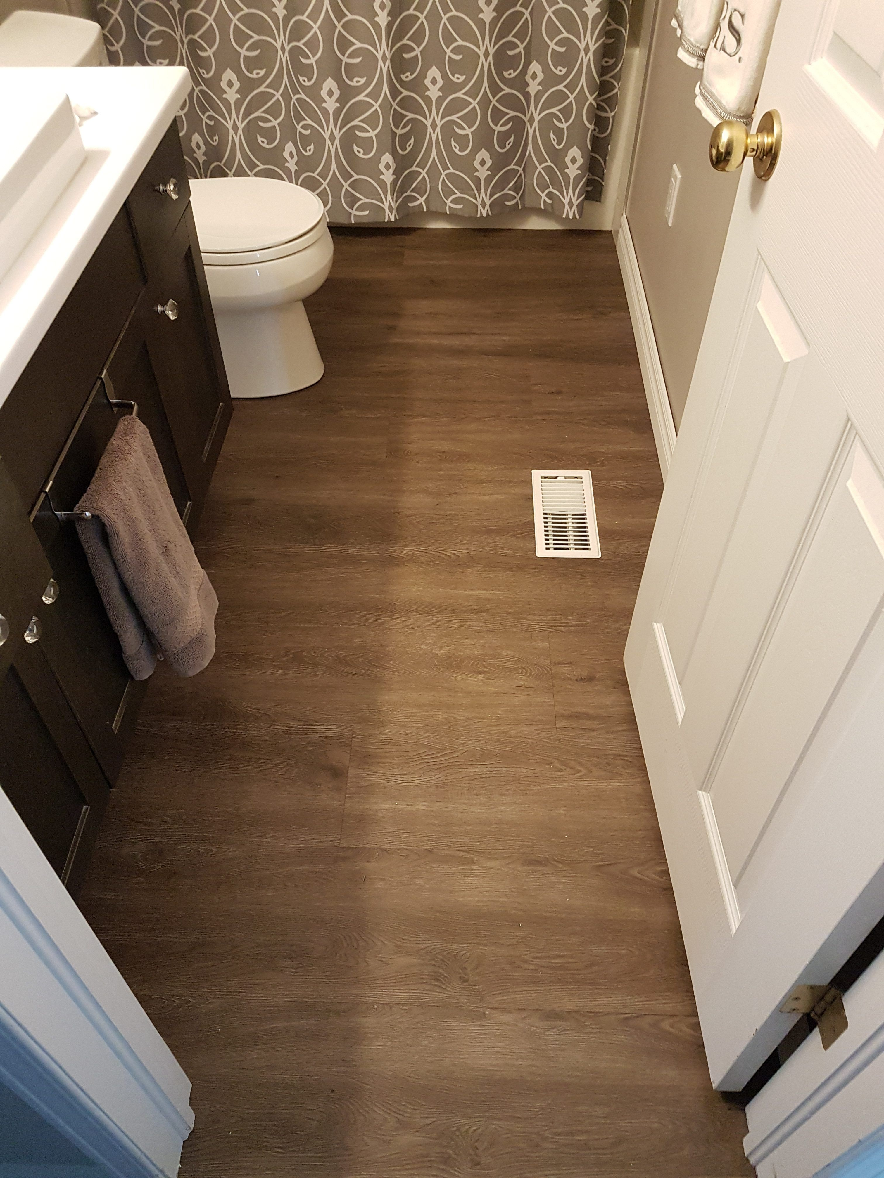 Installing Luxury Vinyl Plank In A Bathroom After Lvp