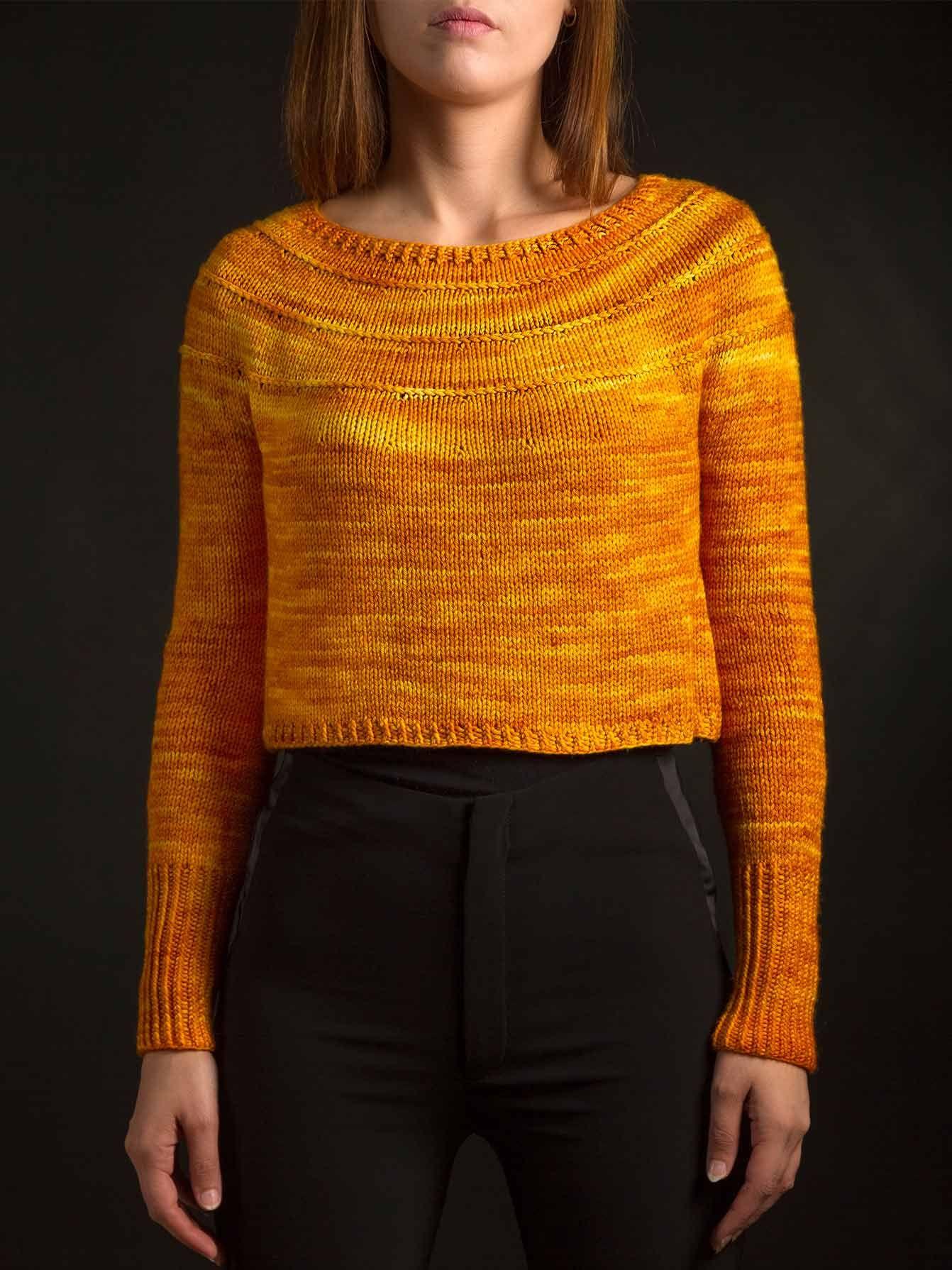 Ubrugte AIRWAVES Sweater by andoliando | malabrigo Rios in Sunset UB-69