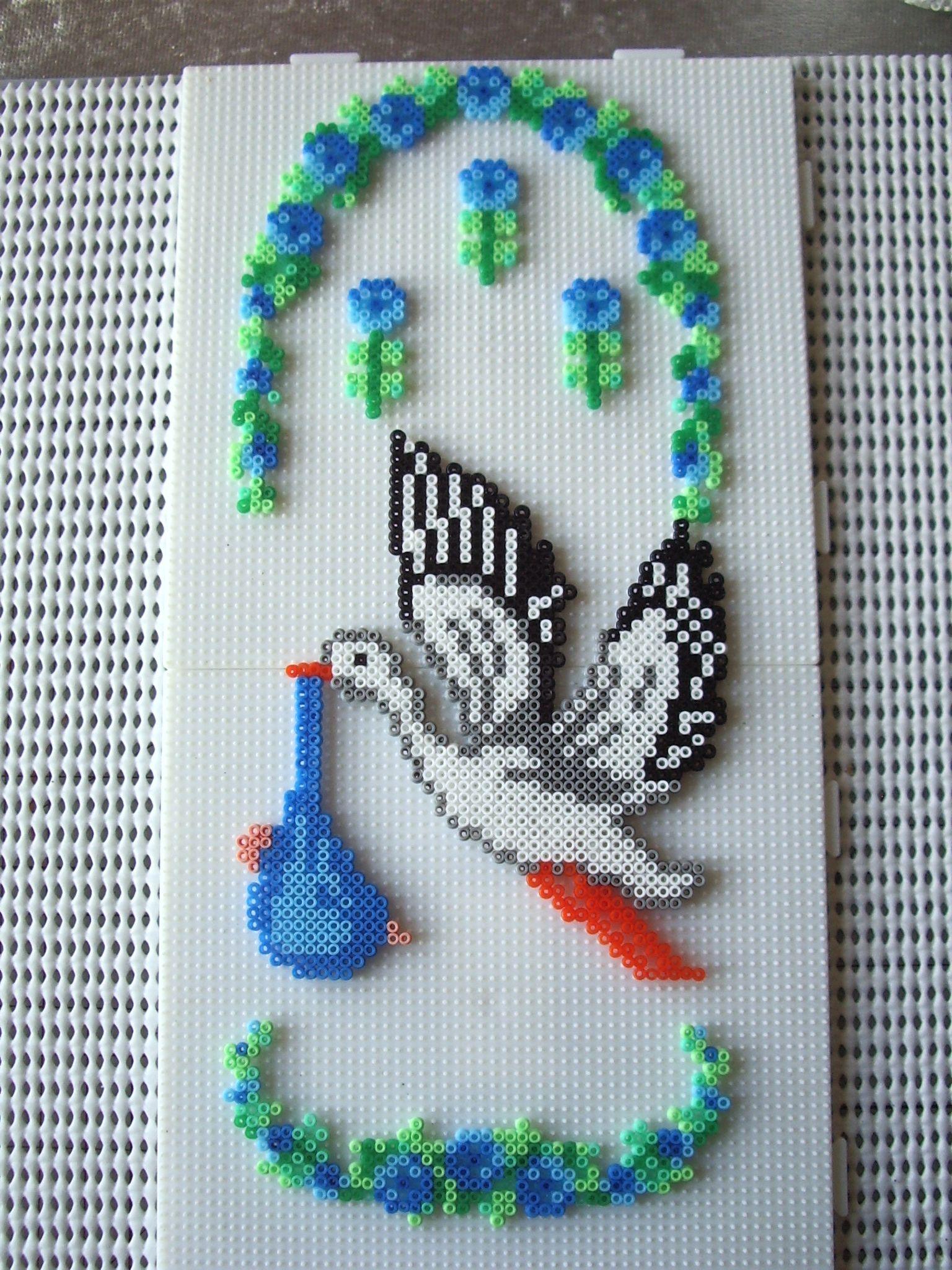 Baby new born hama beads by Marianne Korsgaard