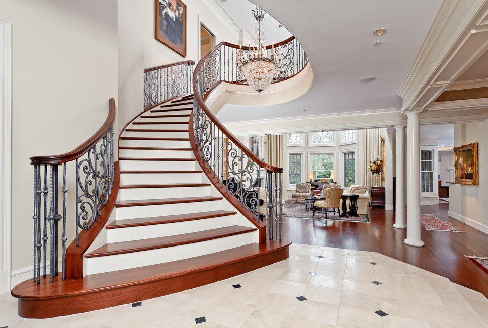 Beautiful Staircases In Homes Curved Staircase Texas Luxury Stairs Gallery