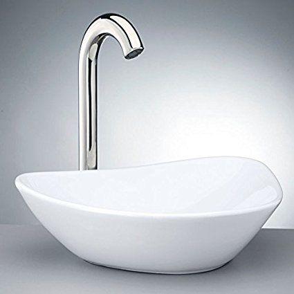 Krone Kvs 140 White Porcelain Vessel Sink With Images Vessel