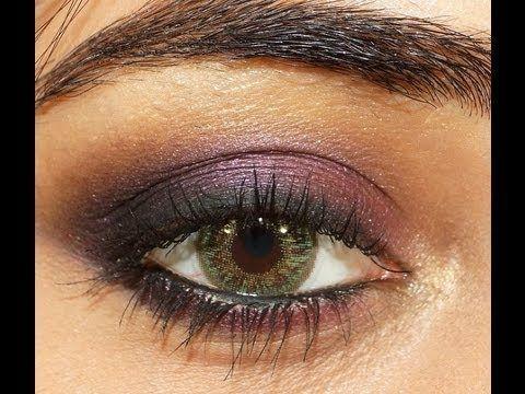 Purple Smokey eye makeup Tutorial | corallista | Purple ...